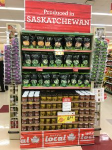 Saskatchewan-made foods on display at Sobeys Photo provided by Sobeys