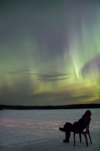 Northern lights in Saskatchewan. Photo by Kristin Ator.