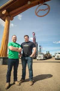 Tyler Mills, Operations Manager and Jared Mills, President, Cross Borders Drilling. Photo by Shane Luhning.