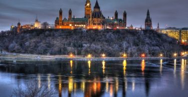 Dawn at Ottawa's Parliament Hill