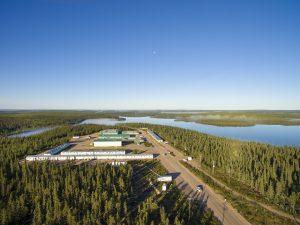 Aerial photo of the McLean Lake Mine Site in northern Saskatchewan.