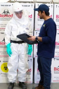 PPE at Biomed, Aberdeen