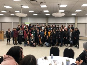 Athabasca Student Dinner, December 2019. Photo provided by ABD