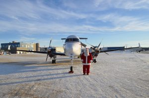 Santa in the North. Photo provided by Athabasca Basin Development.